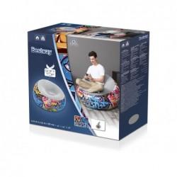 Chaise Longue Gonflable de 112x112x66 cm. Graffiti Bestway 75075 | Piscineshorssolweb