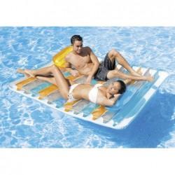 Matelas Gonflable Pour Piscine Double Lounge 198 X 160 Cm   Piscineshorssolweb