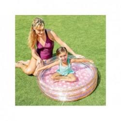 Piscine Gonflable Enfant 86x25 Cm. Rose Avec Paillettes Intex 57103 | Piscineshorssolweb
