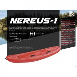 Kayak Nereus 1 de la marque Kohala 368x88x45cm, de Ociotrends KY368 | Piscineshorssolweb