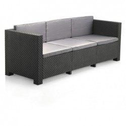 Muebles de Jardín Set Modelo Diva Tropea Antracita SP Berner 55441   PiscinasDesmontable