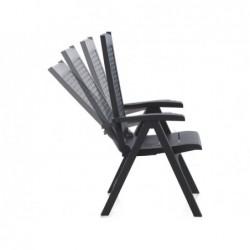 Muebles de Jardín Sillón Multiposición Modelo Metal Antracita SP Berner 55351   PiscinasDesmontable