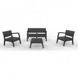 Muebles de Jardín Set Modelo Miami Antracita SP Berner 55393