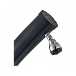 Douche Solaire Incurvée Gre Ar10250 Noire Pvc De 25 Litres | Piscineshorssolweb