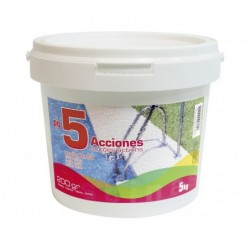 Chlore 5 Actions Dissolution Lente Flacon De 5 Kg Pqs 55705