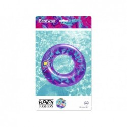 Bouée Gonflable Violette Avec Plumes De 91 Cm. Bestway 36153   Piscineshorssolweb
