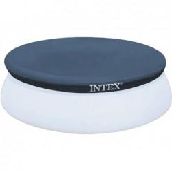 Bâche De Protection Pour Piscine Autoportante Circulaire Intex Easy Set Ref 28023 457 Cm