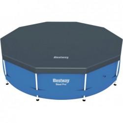 Bâche De Protection Pour Piscine Bestway Steel Pro Tubulaire Circulaire Ref 58036 305 Cm Diametre